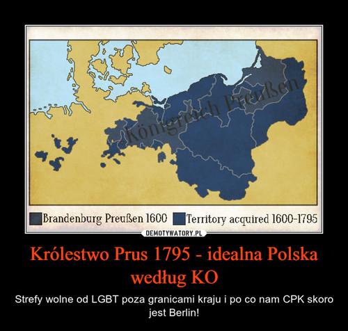 Królestwo Prus 1795 - idealna Polska według KO