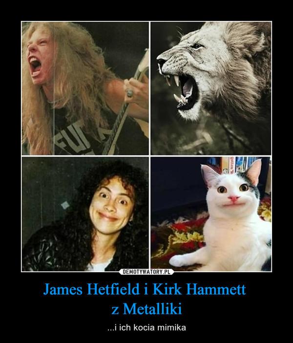 James Hetfield i Kirk Hammett z Metalliki – ...i ich kocia mimika