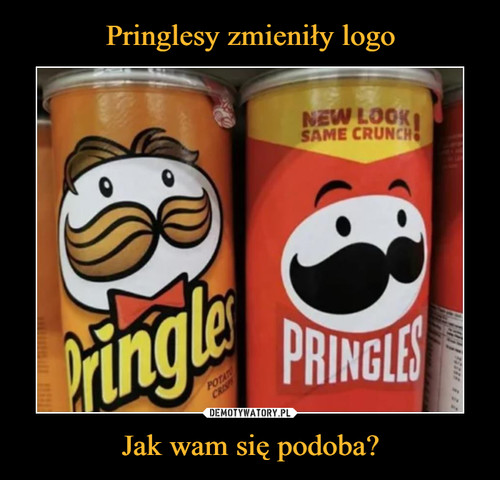 Pringlesy zmieniły logo Jak wam się podoba?