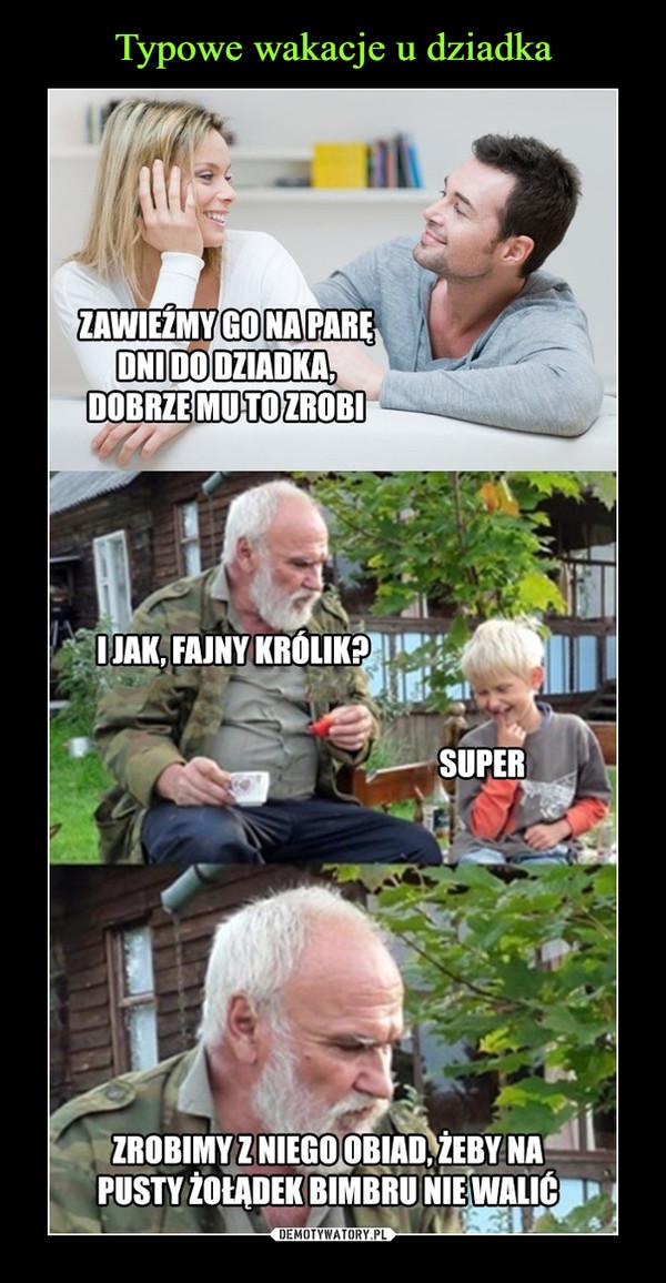 Typowe wakacje u dziadka