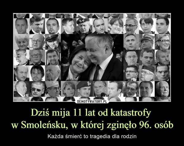 Dziś mija 11 lat od katastrofy  w Smoleńsku, w której zginęło 96. osób