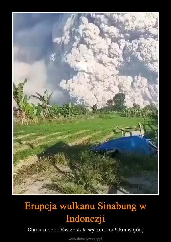 Erupcja wulkanu Sinabung w Indonezji – Chmura popiołów została wyrzucona 5 km w górę