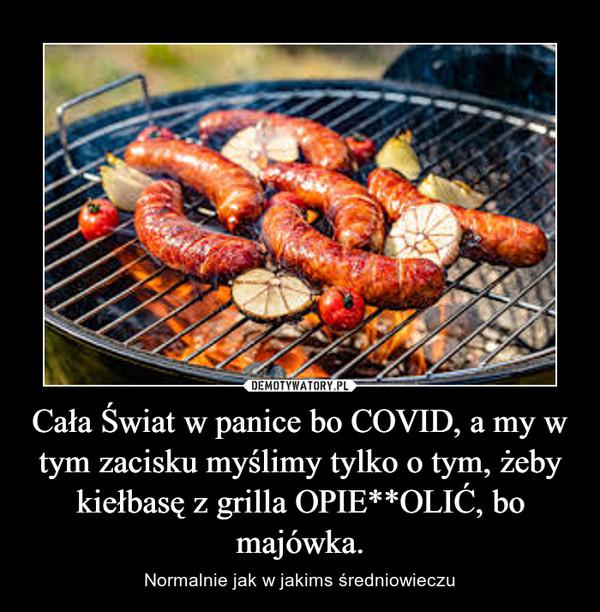 Cała Świat w panice bo COVID, a my w tym zacisku myślimy tylko o tym, żeby kiełbasę z grilla OPIE**OLIĆ, bo majówka. – Normalnie jak w jakims średniowieczu
