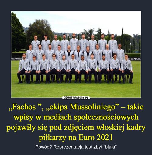 """""""Fachos """", """"ekipa Mussoliniego"""" – takie wpisy w mediach społecznościowych pojawiły się pod zdjęciem włoskiej kadry piłkarzy na Euro 2021"""