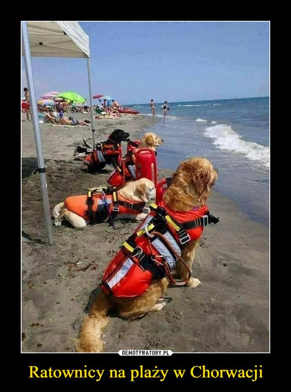Ratownicy na plaży w Chorwacji –