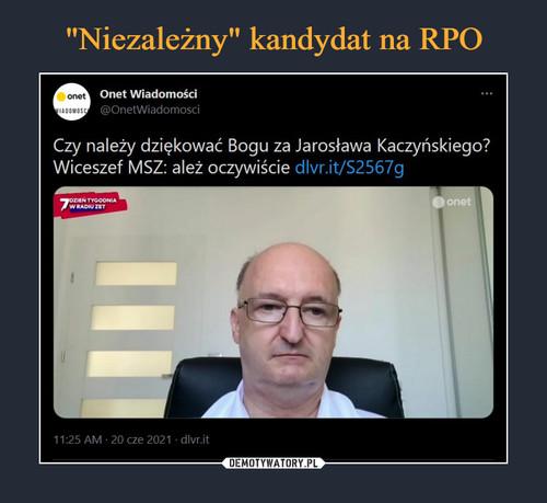 """""""Niezależny"""" kandydat na RPO"""