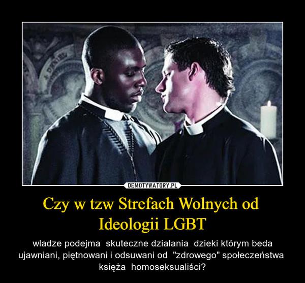 """Czy w tzw Strefach Wolnych od  Ideologii LGBT – wladze podejma  skuteczne dzialania  dzieki którym beda ujawniani, piętnowani i odsuwani od  """"zdrowego"""" społeczeństwa  księża  homoseksualiści?"""