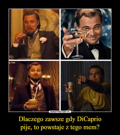 Dlaczego zawsze gdy DiCaprio pije, to powstaje z tego mem?