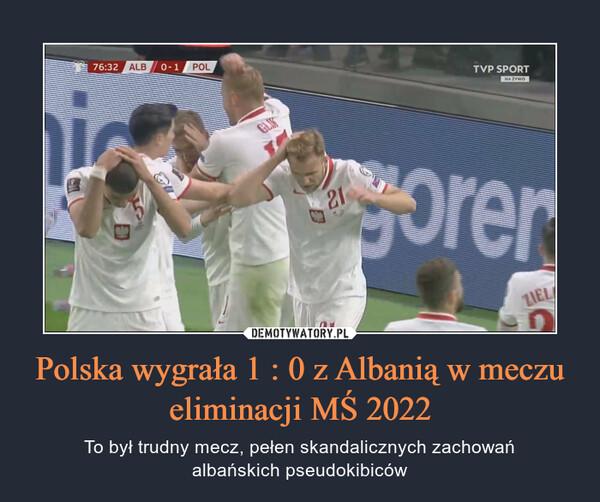 Polska wygrała 1 : 0 z Albanią w meczu eliminacji MŚ 2022 – To był trudny mecz, pełen skandalicznych zachowańalbańskich pseudokibiców